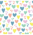 heart seamless pattern background doodle vector image