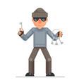 housebreaker thieves keys picklock hand evil vector image