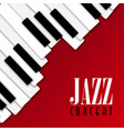 jazz concert poster with piano background vector image
