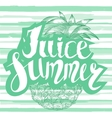 Juice summer with a pineapple vector image