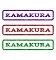 kamakura watermark stamp vector image vector image