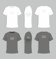Mens t-shirt design template vector image