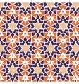 mosaic orange purple stars Repetition vector image vector image