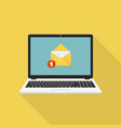 new email on laptop screen flat design vector image