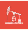 Oil derrick vintage vector image vector image