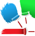 Painting roller set for text background vector image