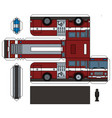 paper model an old fire truck vector image