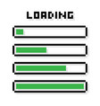 pixel loading bars set - isolated vector image vector image