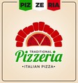 Pizzeria logo template design vector image