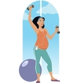 Pregnancy workout vector image vector image