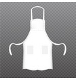 realistic white kitchen apron vector image