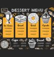 restaurant dessert menu design decorative sketch vector image