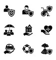 save the property icons set simple style vector image vector image