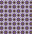 Seamless ethnic pattern with geometric flowers vector image vector image