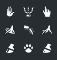 set of limbs icons vector image vector image