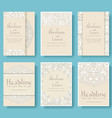 set of wedding card flyer pages ornament vector image vector image