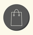 shopping bag for shopping round icon with vector image vector image