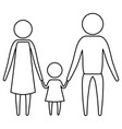 sketch silhouette of pictogram parents with a vector image vector image