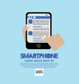 Smartphone in Hand EPS10 vector image