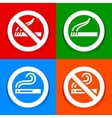 Stickers multicolored - No smoking area symbol vector image vector image