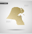 stylized kuwait map vector image vector image