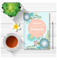 summer scene with colorful notebook vector image vector image