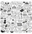 sweet baking doodles vector image