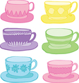 Teacups vector image vector image