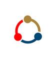 teamwork circle logo template vector image vector image