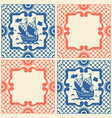 vintage traditional ceramic mosaic with sailboat vector image vector image