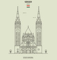 votive church in szeged vector image