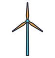 windmill turbine generated wind energy icon vector image