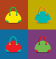 Women Bags on Colorful Background vector image vector image