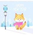 fox winter vector image