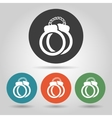 Flat police handcuffs icons set vector image