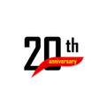 20th anniversary abstract logo twenty vector image vector image