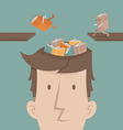 A man fill knowledge vector image