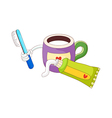A toothbrush with toothpaste vector image vector image