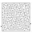 abstract complex square isolated labyrinth black vector image vector image