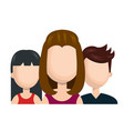 avatar women and guy social network team graphic vector image vector image