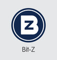 bit-z the crypto coins or cryptocurrency logo vector image