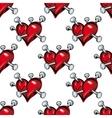 Bleeding hearts seamless pattern vector image vector image