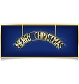Blue Christmas design inscription on signboard vector image vector image