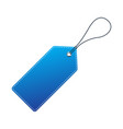 blue price tag vector image