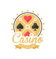 casino premium logo colorful vintage gambling vector image