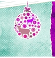 Christmas deer card EPS 8 vector image vector image