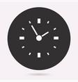 clock time icon deadline symbol vector image vector image