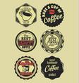 coffee vintage retro labels 5 vector image vector image