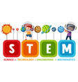 colourful stem education text icon vector image vector image
