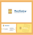 cupboard logo design with tagline front and back vector image vector image